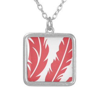Feathers Silver Plated Necklace