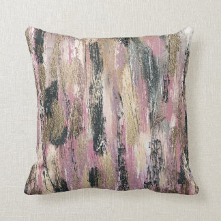Feathers Water Colour Painting Cotton Throw Pillow