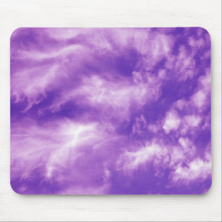 Feathery Purple Clouds Mouse Pad