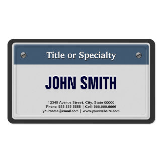 Featured and Cool Car License Plate Pack Of Standard Business Cards