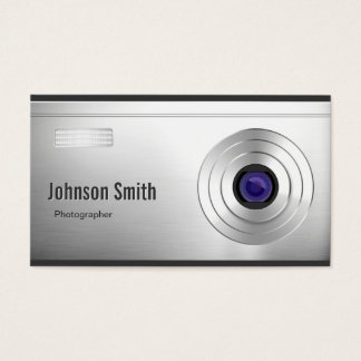 Featured Digital Camera Lens - Photography Business Card