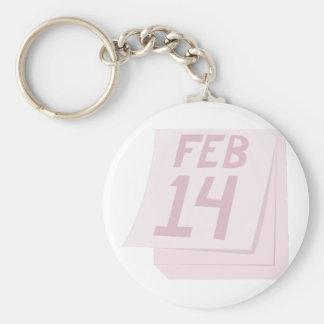 Feb 14 Calendar Keychains