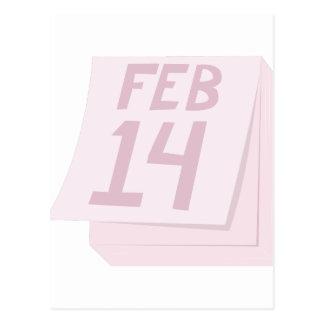 Feb 14 Calendar Postcard