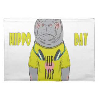 February 15th - Hippo Day - Appreciation Day Placemat