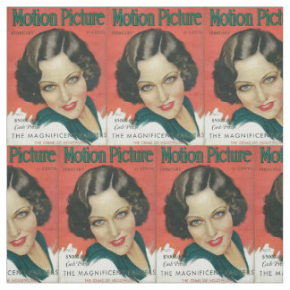 February 1931 movie mag Gloria Swanson cover prin Fabric