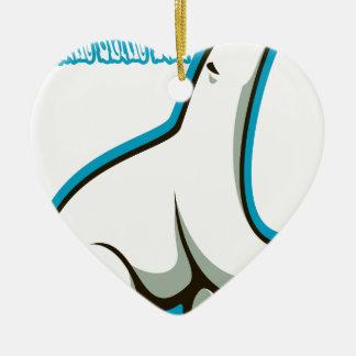 February 27th - Polar Bear Day Ceramic Heart Decoration