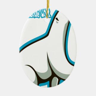 February 27th - Polar Bear Day Ceramic Oval Decoration