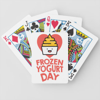 February 6th - Frozen Yogurt Day Bicycle Playing Cards