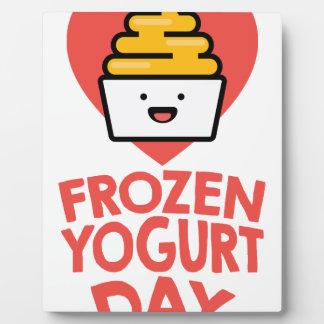 February 6th - Frozen Yogurt Day Plaque