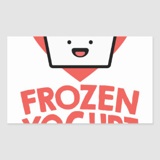 February 6th - Frozen Yogurt Day Rectangular Sticker