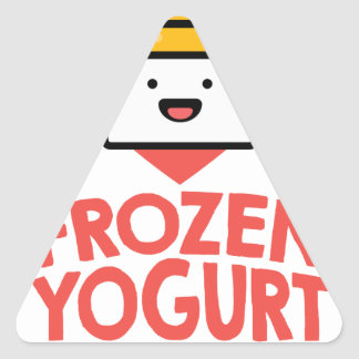 February 6th - Frozen Yogurt Day Triangle Sticker