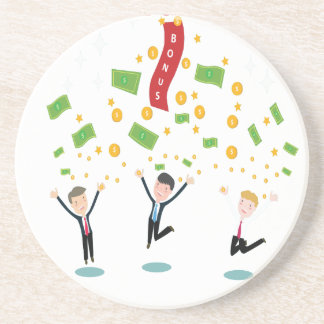 February 8th - Laugh And Get Rich Day Beverage Coaster