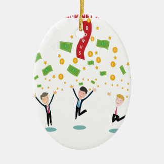 February 8th - Laugh And Get Rich Day Ceramic Ornament