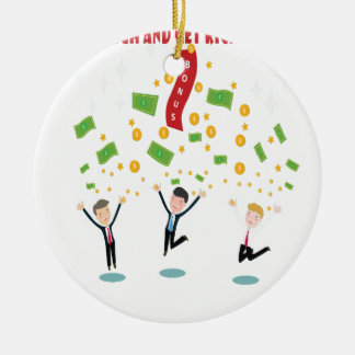 February 8th - Laugh And Get Rich Day Round Ceramic Decoration
