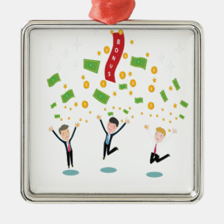 February 8th - Laugh And Get Rich Day Silver-Colored Square Decoration