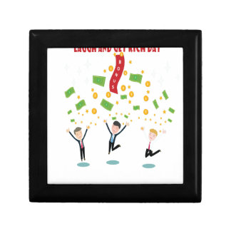 February 8th - Laugh And Get Rich Day Small Square Gift Box
