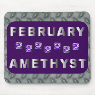 February Amethyst Mouse Pad