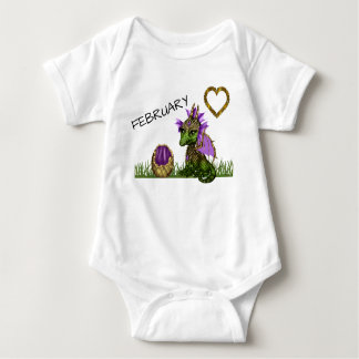 February Baby Dragon Baby Bodysuit