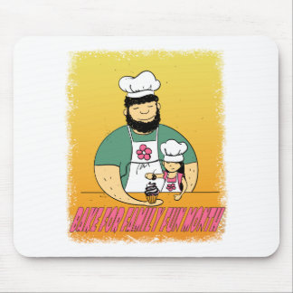 February - Bake For Family Fun Month Mouse Pad