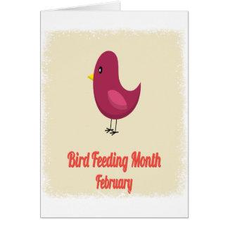 February - Bird-Feeding Month - Appreciation Day Card