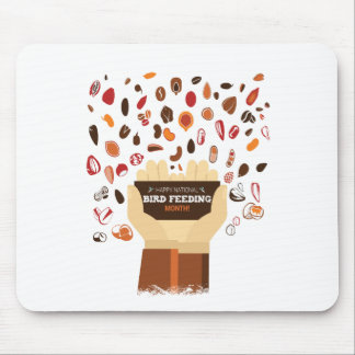February Bird-Feeding Month - Appreciation Day Mouse Pad