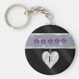 February Birthday Charm Key Ring