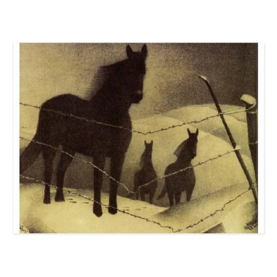 February by Grant Wood Postcard