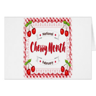 February - Cherry Month - Appreciation Day Card