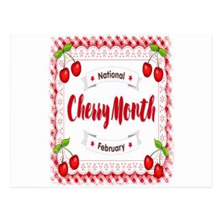 February - Cherry Month - Appreciation Day Postcard