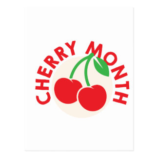 February - Cherry Month - Appreciation Day Postcard