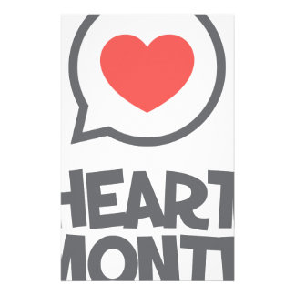 February - Heart Month - Appreciation Day Customised Stationery