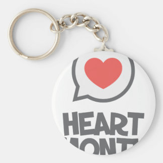 February - Heart Month - Appreciation Day Key Ring