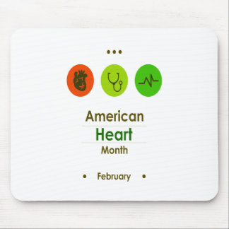 February - Heart Month Mouse Pad