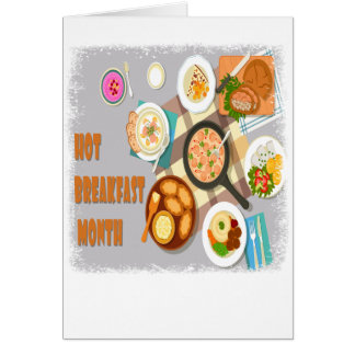 February - Hot Breakfast Month - Appreciation Day Card