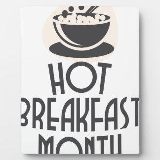 February - Hot Breakfast Month - Appreciation Day Display Plaque