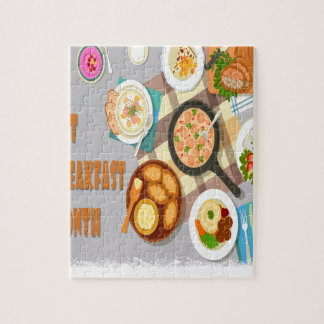 February - Hot Breakfast Month - Appreciation Day Jigsaw Puzzle
