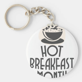 February - Hot Breakfast Month - Appreciation Day Key Ring