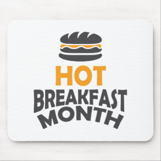February - Hot Breakfast Month - Appreciation Day Mouse Pad