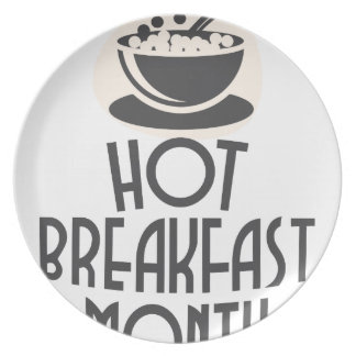 February - Hot Breakfast Month - Appreciation Day Plate