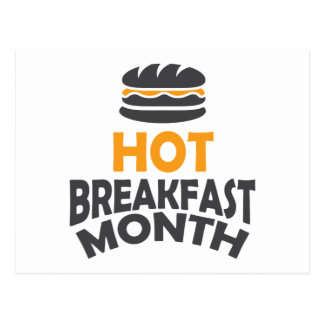 February - Hot Breakfast Month - Appreciation Day Postcard