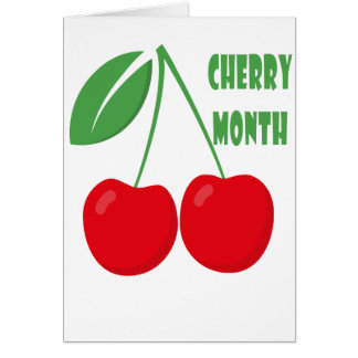 February is Cherry Month - Appreciation Day Card