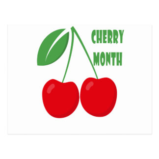 February is Cherry Month - Appreciation Day Postcard