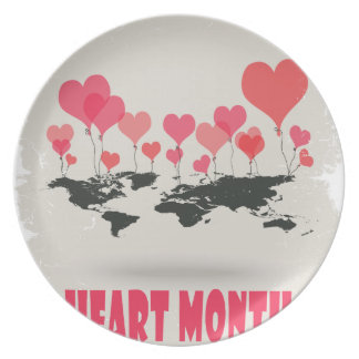 February is Heart Month - Appreciation Day Plate