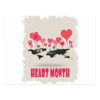 February is Heart Month - Appreciation Day Postcard