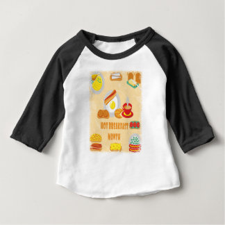 February is Hot Breakfast Month - Appreciation Day Baby T-Shirt