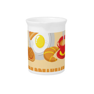 February is Hot Breakfast Month - Appreciation Day Beverage Pitcher