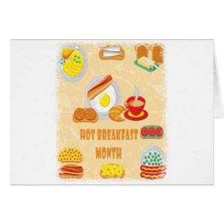 February is Hot Breakfast Month - Appreciation Day Card