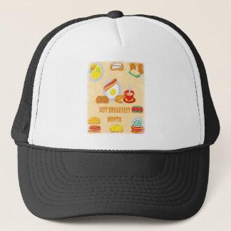 February is Hot Breakfast Month - Appreciation Day Trucker Hat