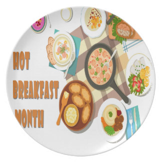 February is Hot Breakfast Month Plate