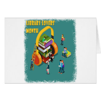 February is Library Lovers' Month Appreciation Day Card